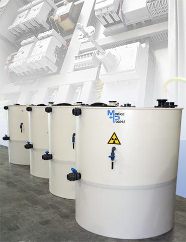 Station de cuves de décroissance pour Effluents radioactifs de médecine nucléaire
