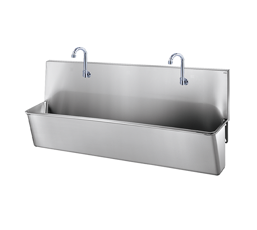 Stainless steel scrub up trough ss sink
