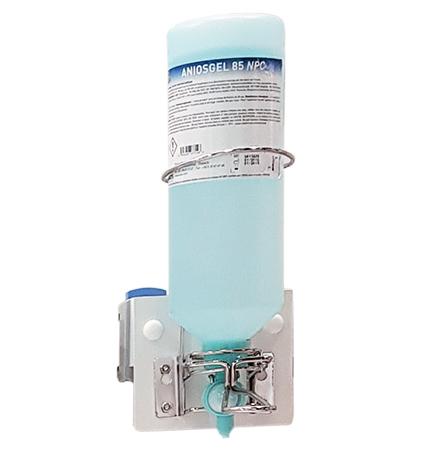 Distributeur à coude de savon et gel hydroalcoolique